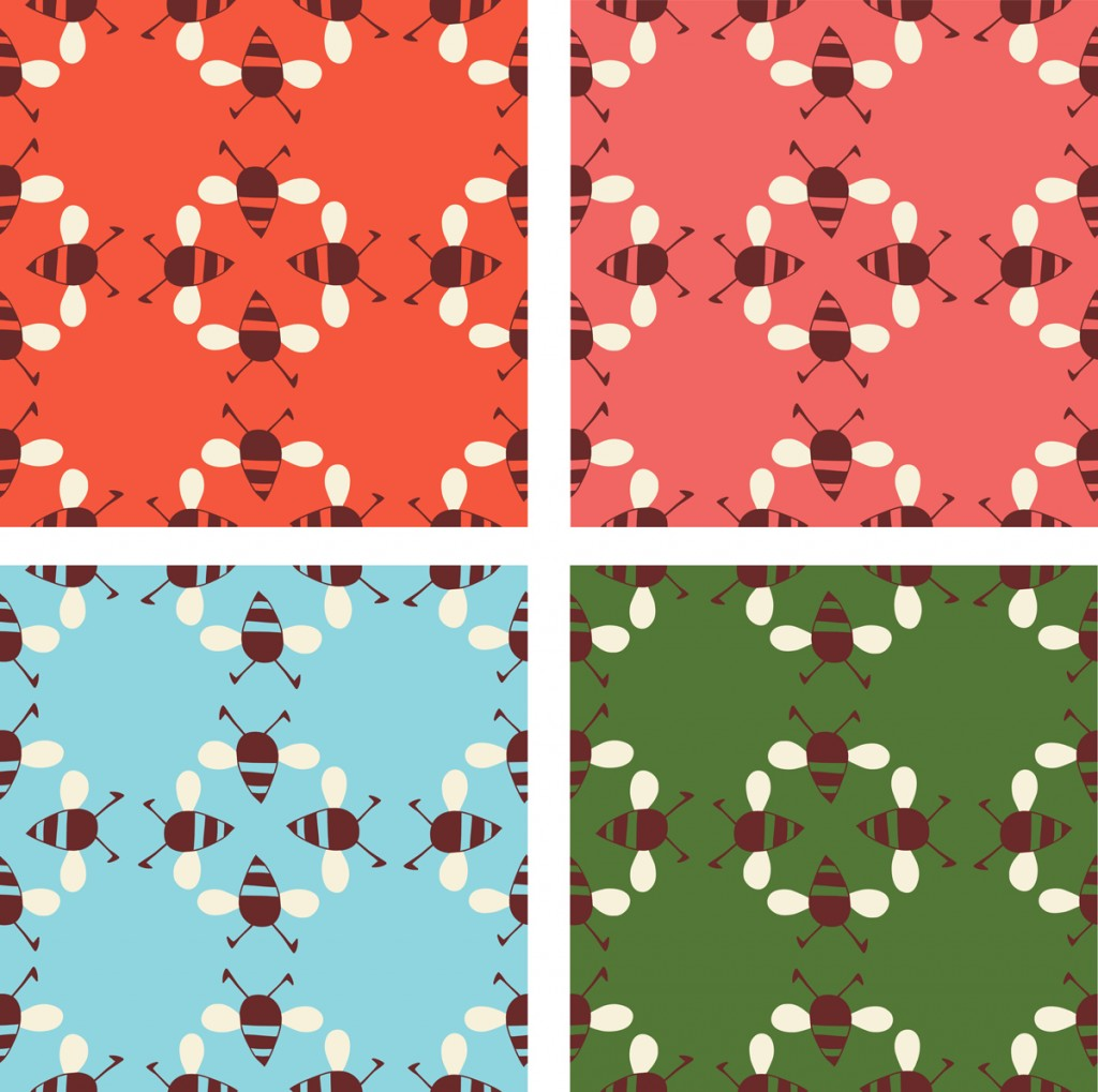 WEB-red-pink-blue-green-bees